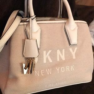 DKNYC Bags - DKNY Khaki/white Satchel Medium canvas